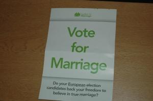 """""""Vote for Marriage"""" front"""