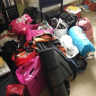 Bags everywhere